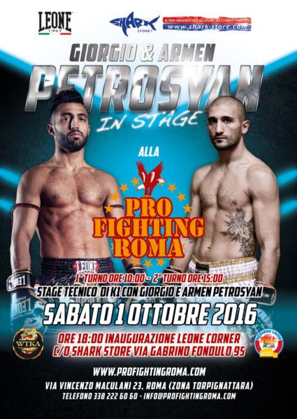 Giorgio Petrosyan, Stage K1 Palestra Pro Fighting Roma