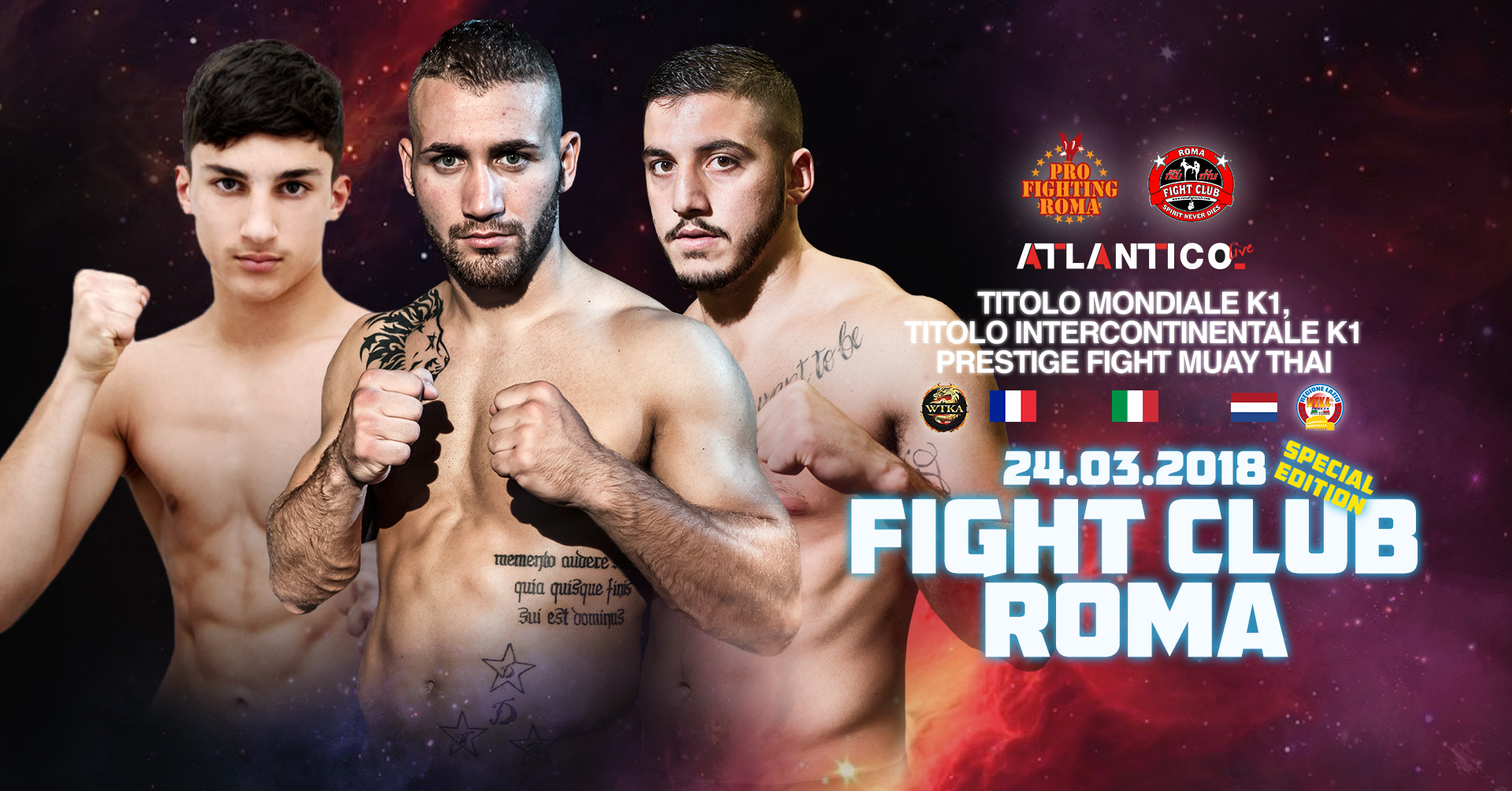 24 Marzo 2018, Fight Club Roma, Atlantico Live