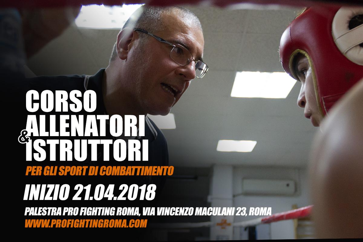 Corso Allenatori e istruttori Sport da Combattimento / 21 Aprile 2018